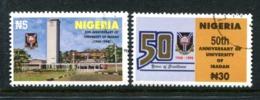 Nigeria 1998 50th Anniversary Of Ibadan University Set Used (SG 726-727) - Nigeria (1961-...)