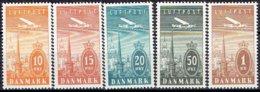 DENMARK  #  FROM 1934  STAMPWORLD 217-21** - 1913-47 (Christian X)