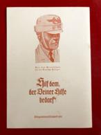 Kriegswinterhilfswerk 1941 , Tag Der Deutschen Polizei .  Original Und Selten . SS ??  ( Fleck Auf Der Rückseite ) - Guerre 1939-45