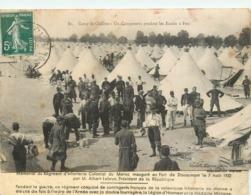 CAMP DE CHALONS CAMPEMENT PENDANT LES ECOLES A FEU - Camp De Châlons - Mourmelon