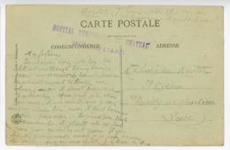DOUBS CP 1917 MONTBELIARD HOPITAL TEMPORAIRE DU CHATEAU  DATEE AU VERSO LE 25.11.17 - 1877-1920: Période Semi Moderne