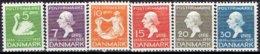 DENMARK  #  FROM 1935  STAMPWORLD 224-29** - 1913-47 (Christian X)