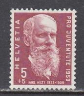 Switzerland 1959 - 50th Anniversary Of The Death Of Karl Hilty, Philosopher, Mi-Nr. 687, MNH** - Switzerland
