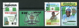 Nigeria 2000 Return To Democracy Set Used (SG 754-757) - Nigeria (1961-...)