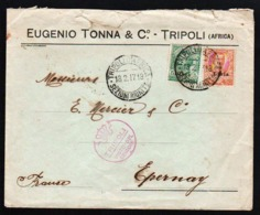 TRIPOLI (Libye), Occupation Italienne. Bel Ensemble De 2 Belles Lettres, L'une Obl En 1917 De Tripoli Avec.............. - Libye