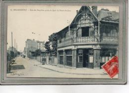 CPA -BOULOGNE-BILLANCOURT (92) -Aspect Du Restaurant Aux Peupliers à L'angle De La Rue Et Du Quai Du Point Du Jour -1909 - Boulogne Billancourt