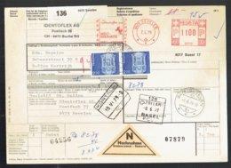 Bulletin D'expédition International - Sevelen - Buchs Suisse Vers Kortrijk Belgique 1979 - Bahnwesen