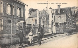 CPA 62 -  ESTREE BLANCHE, Route D'Aire Et La Brasserie - Francia