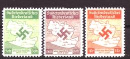 Duitse Rijk / Deutsches Reich Sudetendeutsches Niederland Michel I - III - COPY - FACSIMILE - NACHDRUK - Occupation 1938-45