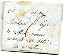 Côtes-d'Armor - LAC (datée 21/01/1789) Marque à Sec (Lenain 7) De Guingamp - Marcophilie (Lettres)