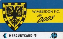 Paytelco, PYF070, Football Clubs, Wimbledon Logo, 2 Scans. - Ver. Königreich