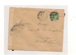 1940 ENVELOPPE AVEC CENSURE  POUR LIMOGES (HAUTE VIENNE) - Marcofilie (Brieven)
