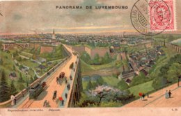 CPA, Panorama De Luxembourg, Colorisée, 1907, Obliteree Luxembourg-Mollerich, Timbre 10 Centimes - Luxembourg - Ville