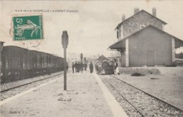 15 LA CHAPELLE LAURENT   LA GARE    VOYAGEE - Francia