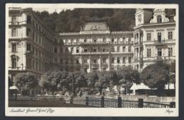 "T91.""Karlsbad. Grandhotel Pupp."" Mail 1942. Karlsbad Ratibor. Sondermarke. Drittes Reich. - Germany"