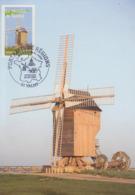Carte  Maximum   1er   Jour    FRANCE    Le   Moulin   De   VALMY    2006 - Mühlen