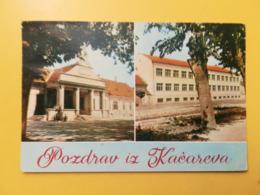 CARTOLINA POSTCARD JUGOSLAVIA YUGOSLAVIA 1965 POZDRAW IZ KACAREVA BOLLO BUILDINGS OBLITERE ANNULLO - Jugoslavia