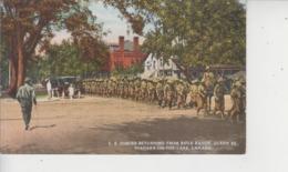 NIAGARA ON THE LAKE  -  C.E. FORCES RETURNING FROM RIFLE RANGE, QUEEN ST.  - - Niagara Falls
