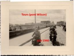 Photographie Tours (37) 1940 Pont Wilson) Armée Allemande Occupation WWII 1939 - 1945 - 1939-45