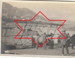 Photo Avril 1912 MONTE-CARLO (Monaco) Avion Biplan Farman MF 3 Piloté Par Eugène Renaux (costume Noir) Au Départ (A215) - ....-1914: Precursors