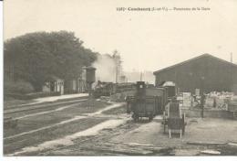 COMBOURG. Panorama De La Gare. Train. - Combourg