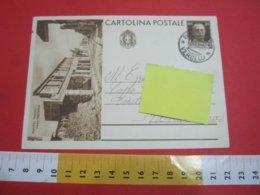 PC.3 ITALIA REGNO CARTOLINA POSTALE - 1933 TURISTICA POMPEI NAPOLI VIA ABBONDANZA DA BORGOSESIA X VARALLO - 1900-44 Vittorio Emanuele III