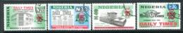 Nigeria 2001 75th Anniversary Of The Daily Times Of Nigeria Set Used (SG 773-776) - Nigeria (1961-...)