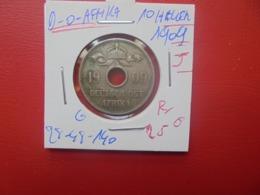 """DEUTSCH-OST-AFRIKA 10 HELLER 1909 """"J""""  (A.2) - Afrique De L'Allemagne De L'Est"""