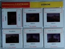 UZERCHE   : 6 DIAPOSITIVES LESTRADE SUR FILM KODAK - Diapositives