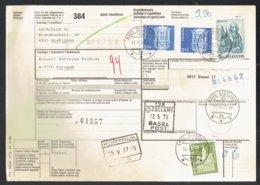 Bulletin D'expédition International -Dietlikon Suisse Vers Waregem Belgique 1977 - Obl Kortrijk - Dietlikon - Basel Post - Chemins De Fer