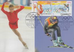 Carte  Maximum  1er  Jour    FRANCE   Jeux  Olympiques  D' Hiver   VANCOUVER  Oblitération  ALBERTVILLE   2010 - 2010-...