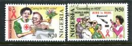 Nigeria 2003 World AIDS Day Set Used (SG 798-799) - Nigeria (1961-...)