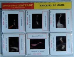 CASCADES DE GIMEL   : 6 DIAPOSITIVES LESTRADE SUR FILM KODAK - Diapositives