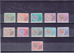 FRANCE 1964-1971 Préoblitérés  MONNAIE Yvert 123-133 NEUFS** MNH Cote : 12,50 Euros - Préoblitérés