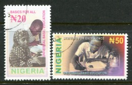Nigeria 2003 Universal Basic Education Set Used (SG 800-801) - Nigeria (1961-...)