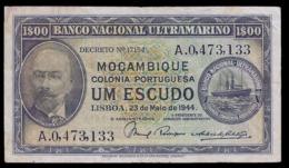 # # # Seltene Banknote Portugiesisch Mosambik 1 Escudos 1944 # # # - Mozambique