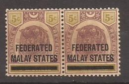 MALAISIE - Timbre De PERAK Surchargé - N° 9 Paire NEUF XX MNH (rare Sans Charnière) - Federated Malay States