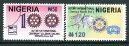 Nigeria 2005 Centenary Of Rotary International Set Used (SG 820-821) - Nigeria (1961-...)