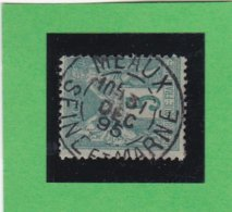 SAGE N° 75 TYPE IIB   - CACHET A DATE  MEAUX- SEINE & MARNE - 31 DEC.1895  - REF 1602 - 1876-1898 Sage (Type II)