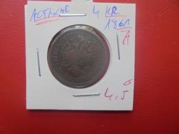 """AUTRICHE 4 KREUZER 1861 """"A""""(A.2) - Austria"""