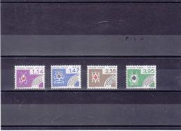 FRANCE 1984 CARTES A JOUER Préoblitérés Yvert 182-185 NEUFS** MNH - 1964-1988