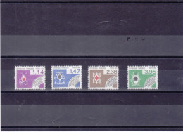 FRANCE 1984 CARTES A JOUER Préoblitérés Yvert 182-185 NEUFS** MNH - Préoblitérés