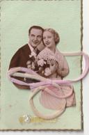 COUPLE - Jolie Cp Avec Tissus Et Ruban, Couple En Ajoutis - Parejas