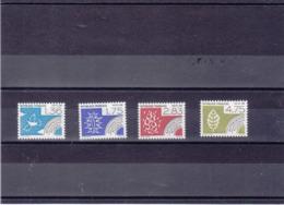 FRANCE 1988 LES 4 ELEMENTS Préoblitérés Yvert 198-200 NEUFS** MNH - Préoblitérés