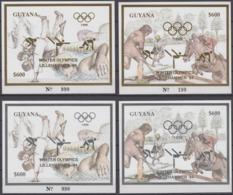 Guyana 11.10.1993 Mi # Bl 339-42, 1994 Lillehammer Winter Olympics MNH - Invierno 1994: Lillehammer