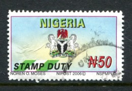 Nigeria 2006 Fiscal Stamp Used (SG F1) - Nigeria (1961-...)