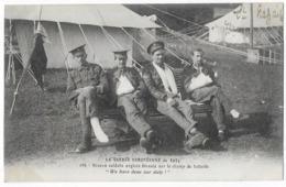 La Guerre Européenne De 1914 Braves Soldats Anglais Blessés Sur Le Champ De Bataille - Guerre 1914-18