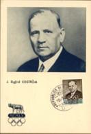 1959-San Marino Cartolina Maximum J.Sigfrid Edstrom A Cura Del Comitato Organizzatore Dei Giochi Della XVII Olimpiade - Briefe U. Dokumente