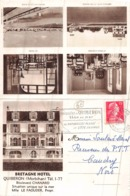 "QUIBERON  - "" Bretage Hotel "" Carte Lettre 2 Volets - Quiberon"