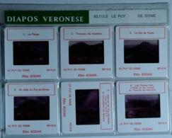 LE PUY DE DOME : 6 DIAPOSITIVES VERONESE SUR FILM KODAK - Diapositives (slides)